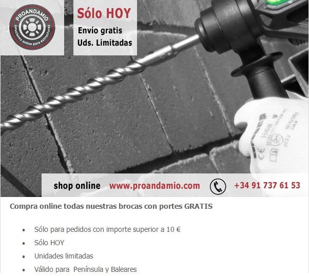 #projueves-brocas-portes-gratis-proandamio